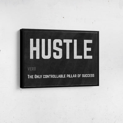 Artiful Hustle motivational Canvas Wall art, framed