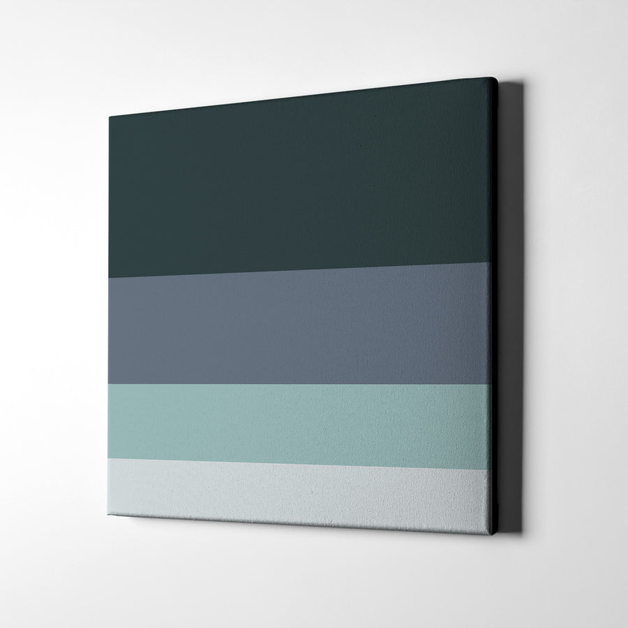 Happy Grey Day Canvas Art - Artiful Color Palette Art Collection