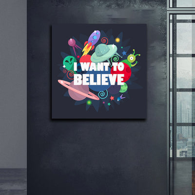 Artiful I Want to Believe Canvas Wall Art Xfiles