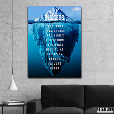 Artiful Iceberg Success Canvas - Inspirational Art