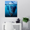 Artiful Iceberg Success Canvas Wall Art motivational art