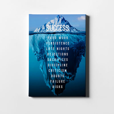 Artiful Iceberg Success Canvas Wall Art