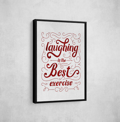Artiful Laughing is the best medicine framed Canvas Wall Art