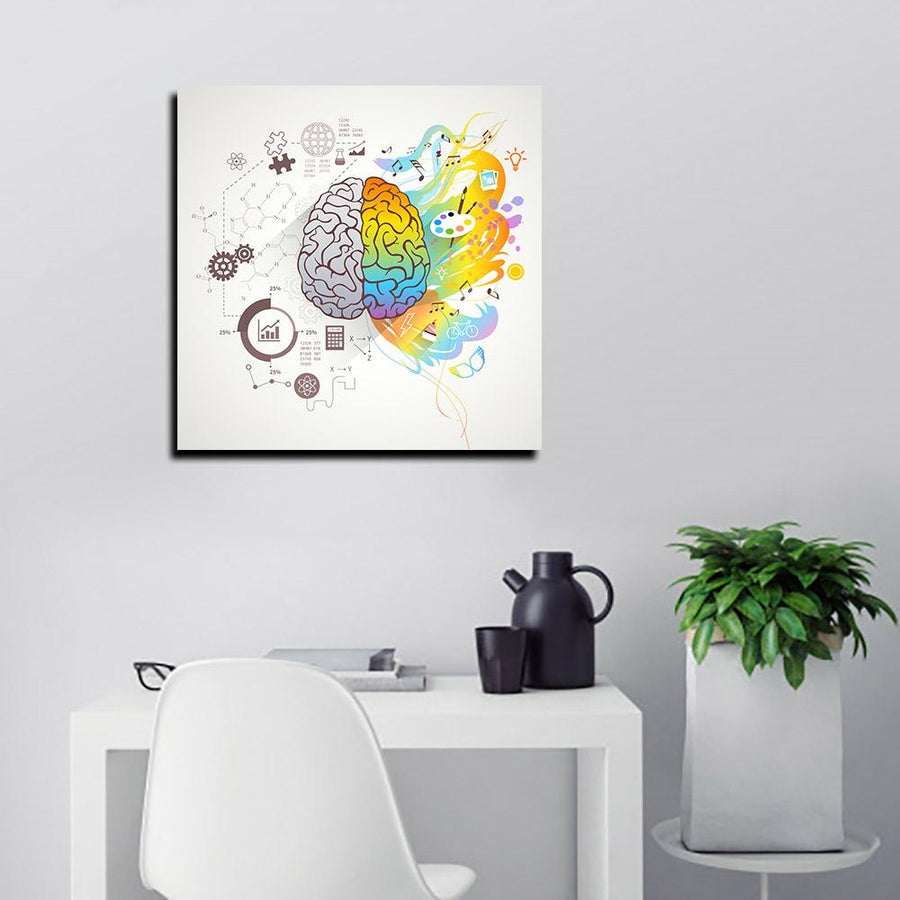 Our Left and Right Side of the Brain Canvas Art by Artiful - The Good Art Store