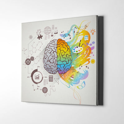 Our Left and Right Side of the Brain Canvas Art by Artiful - inspirational