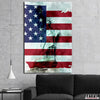 Artiful Statue of Liberty American Flag Canvas Wall Art