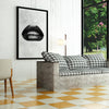 Artiful Black Lips on Marble White Canvas Wall art, Lips collection