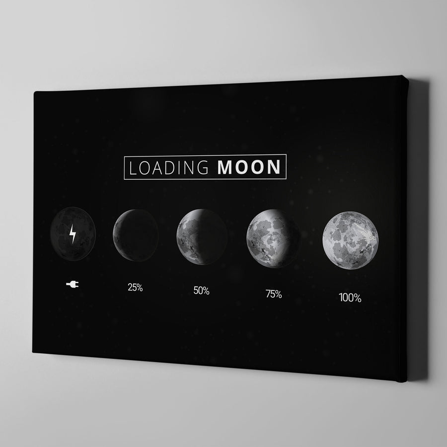 Artiful Loading Moon Canvas Wall Art