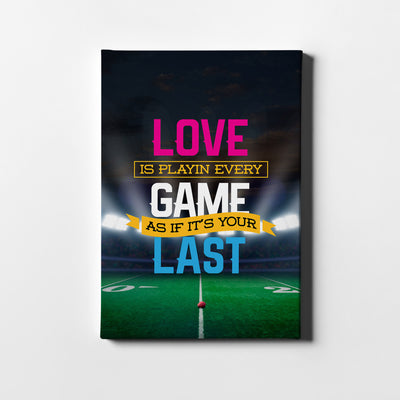 Artiful Love The Game motivational Canvas art