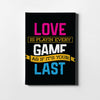 Love The Game on Black - Printed Canvas - Only in Aristeas shop