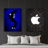 Artiful Michael Jackson and Steve Jobs Printed Canvas art - Iconic collection