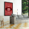 Artiful Red Lips inspirational home or office wall art