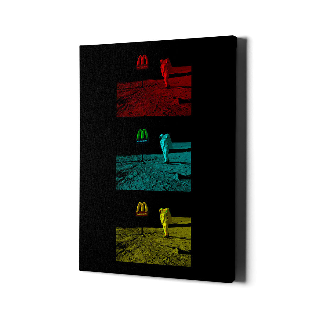 McDonald's on the Moon Canvas Art