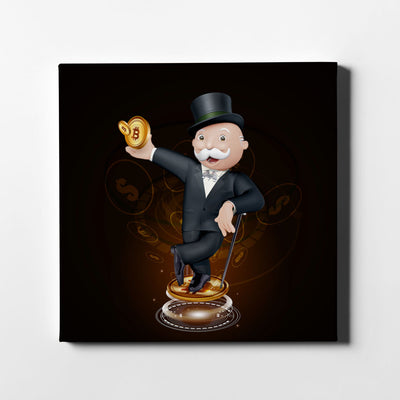 Crypto Monopoly Canvas Art - Artiful Crypto Art Collection