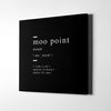 Moo point definition Canvas Wall Art - Artiful Definition Collection
