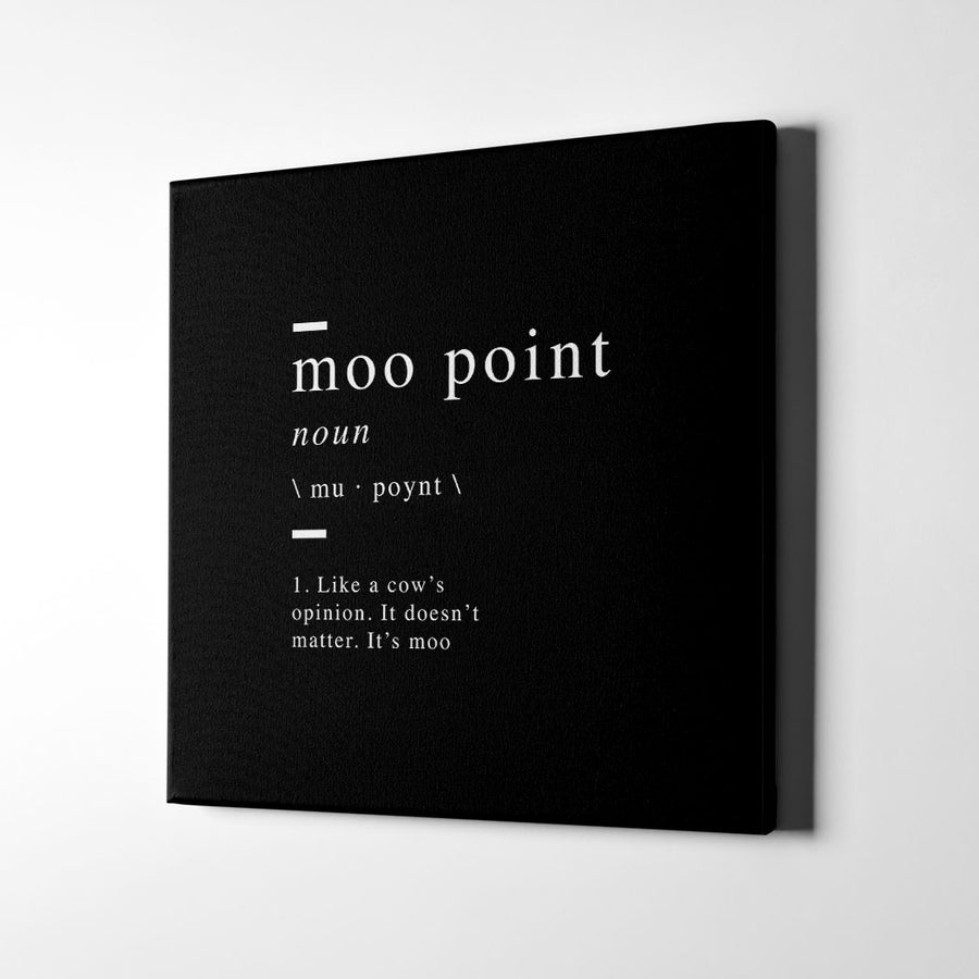 Moo point definition Canvas Art - Artiful Definition Collection