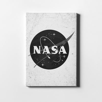 Artiful NASA Black & White Canvas Wall Art