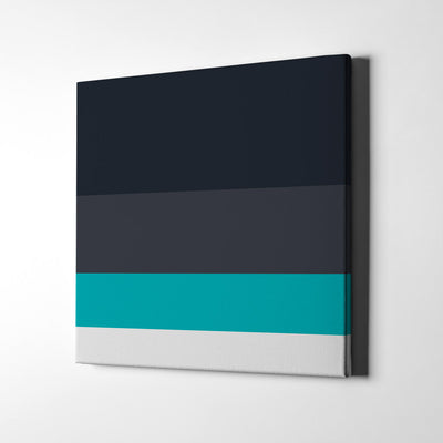 Navy blues Color Palette Canvas Wall Art