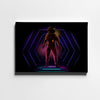 Artiful Neon Astronaut Canvas Wall Art