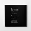 Netflix definition Canvas Art - Artiful Definition Collection
