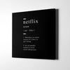 Netflix definition Canvas Wall Art - Artiful Definition Collection