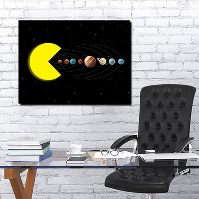 Artiful Pac-Man Solar System Canvas Art