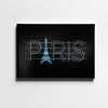 Paris Neon Sign Canvas Wall Art - Artiful Travel Art Collections