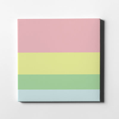 Pastel Dream Color Palette Canvas Art - Artiful Collection