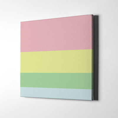 Pastel Dream Color Palette Canvas Wall Art - Artiful Collection