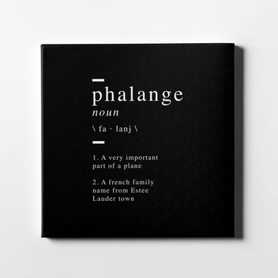 Phalange definition Canvas Art - Artiful Definition Collection