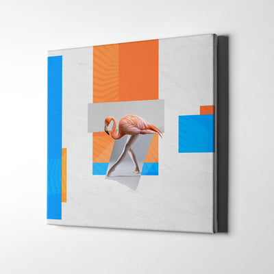 Artiful Ballet flamingo III Canvas Wall Art