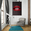 Artiful Red Lips on Brown inspirational home or office wall art