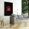 Artiful Red Lips on Black inspirational home or office wall art