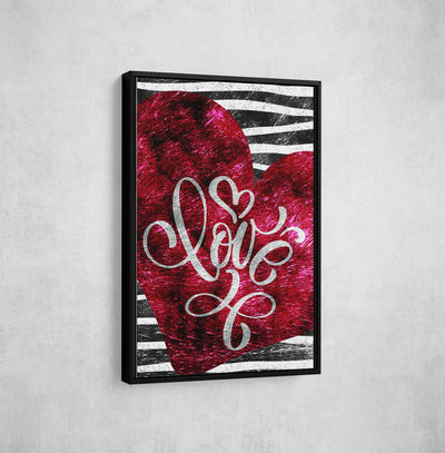 Artiful Sratched Love office and home decor wall art