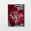 Artiful Sratched Love Canvas art