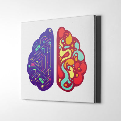 Sides of the Human Brain Canvas Wall Art by Artiful - The Good Art Store