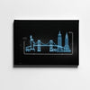 Skyline Neon Canvas Art by Artiful