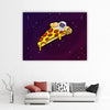 Artiful Space Pizza Bed Canvas Art