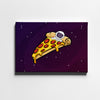 Artiful Space Pizza Bed Canvas Wall Art