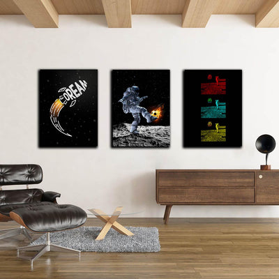 Artiful Space Art Collection Canvas - Dream - Football on the moon - McDonalds in Space