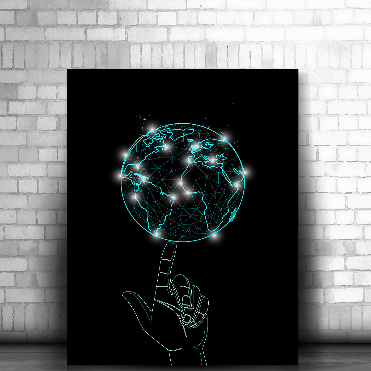Artiful Spinning World Canvas Wall Art