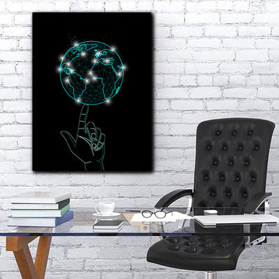 Artiful Spinning World Canvas Wall Art collection
