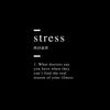 Stress definition Canvas Wall Art - Artiful Definition Collection - Funny art