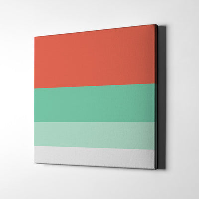 Tangerine Canvas Wall Art - Artiful Color Palette Art Collection