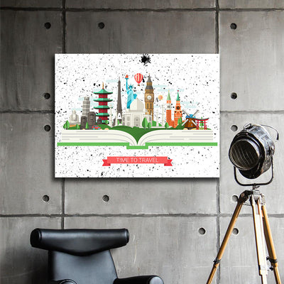 Time to Travel Canvas Wall Art - Artiful The Good Art Store