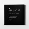 Vegetarian definition Canvas Wall Art - Artiful Definition Collection