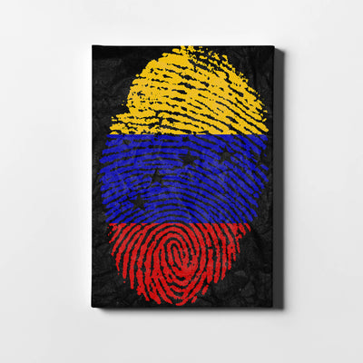 Artiful Venezuela huella bandera Canvas Wall art