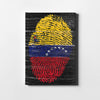 Venezuelan Flag scratched Fingerprint - Printed Canvas - Only in Aristeas shop
