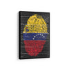 Artiful Venezuela fingertip flag on scratched Canvas Wall art, framed