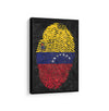Artiful Venezuela fingertip flag Canvas Wall art, framed